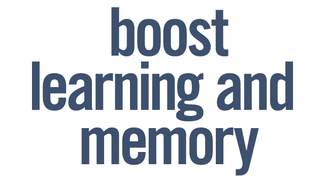Boost Learning and Memory